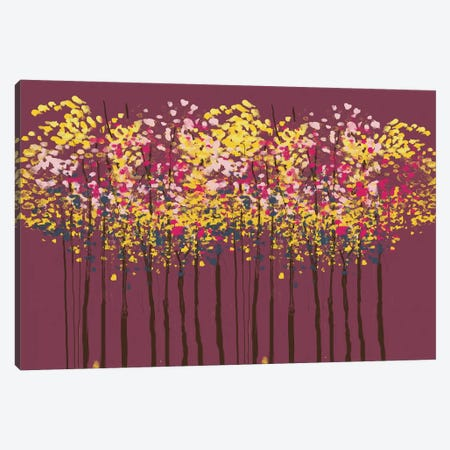 Autumn Trees Canvas Print #SBE1} by Sara Berrenson Canvas Print