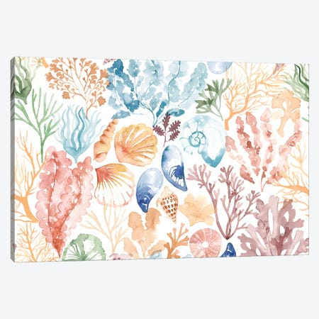 Coral Reef Sand Swatch Canvas Print #SBE21} by Sara Berrenson Canvas Art Print