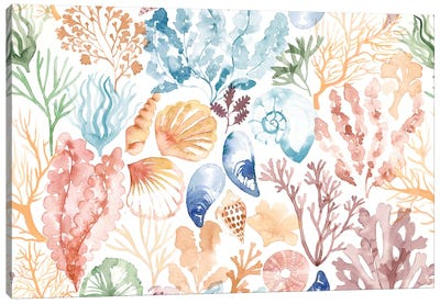 Coral Reef Sand Swatch Canvas Art Print