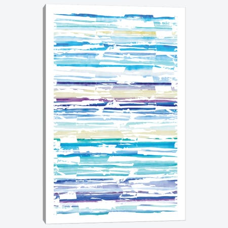 Distressed Stripe Swatch Canvas Print #SBE23} by Sara Berrenson Canvas Print