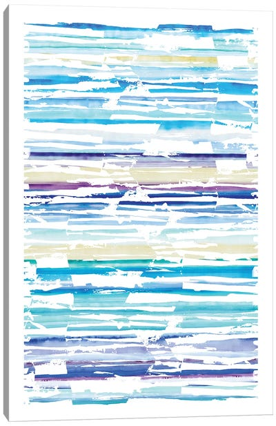 Distressed Stripe Swatch Canvas Art Print