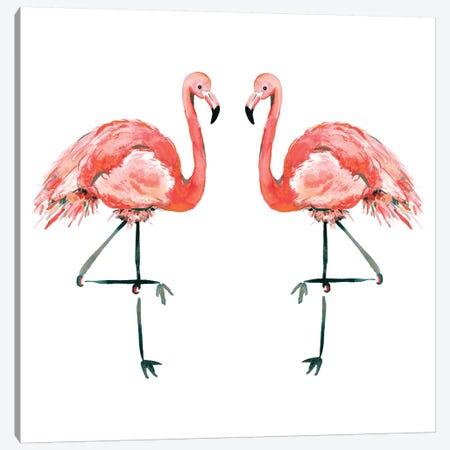 Flamingos Canvas Print #SBE26} by Sara Berrenson Canvas Wall Art