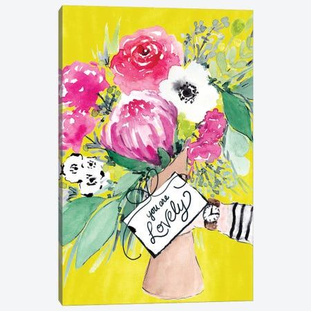 Flower Bouquet II Canvas Print #SBE27} by Sara Berrenson Canvas Art