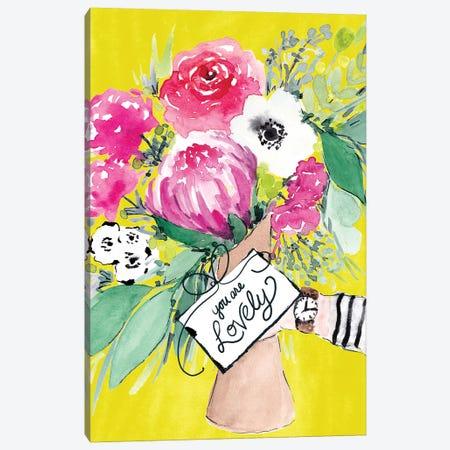 Flower Bouquet II Canvas Print #SBE27} by Sara Berrenson Canvas Art