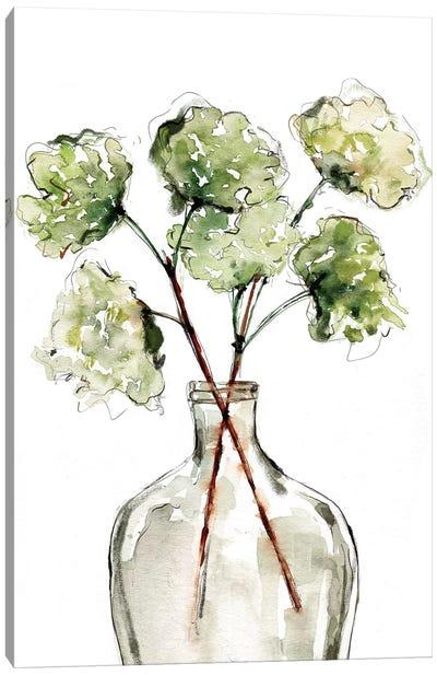 Greenery Vase II Canvas Art Print