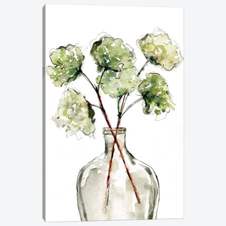 Greenery Vase II Canvas Print #SBE29} by Sara Berrenson Art Print