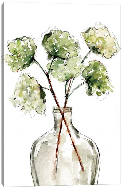 Greenery Vase II Canvas Art Print