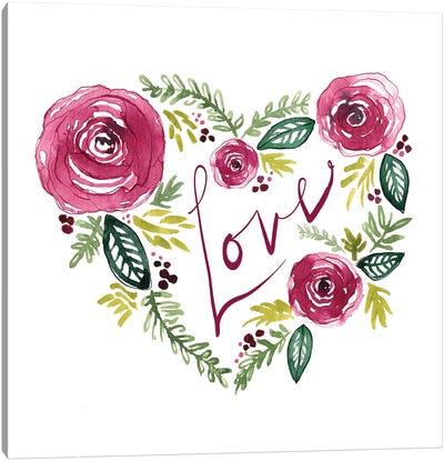Heart Floral II Canvas Art Print