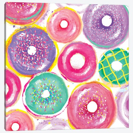 Donuts Layers Canvas Print #SBE32} by Sara Berrenson Canvas Art