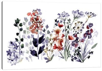 Indigo Wildflowers Canvas Art Print