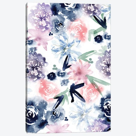 Dreamy Floral Canvas Print #SBE34} by Sara Berrenson Canvas Print