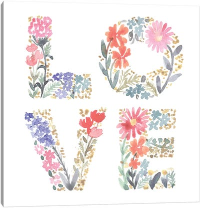 Love Flowers Canvas Art Print