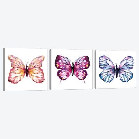 Butterfly Triptych Canvas Print Set #SBE3HSET001} by Sara Berrenson Canvas Art Print