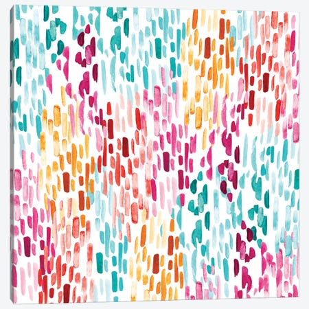 Painty Lines Canvas Print #SBE41} by Sara Berrenson Canvas Art Print
