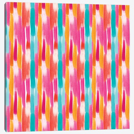 Painty Lines Warm Canvas Print #SBE42} by Sara Berrenson Art Print