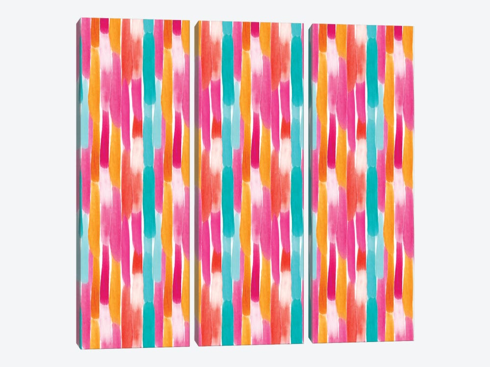 Painty Lines Warm by Sara Berrenson 3-piece Canvas Artwork
