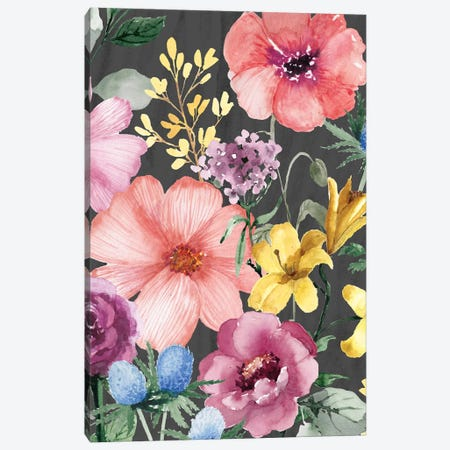 Paris Floral Canvas Print #SBE43} by Sara Berrenson Canvas Print