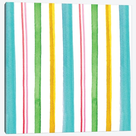 Stripes Canvas Print #SBE44} by Sara Berrenson Canvas Artwork