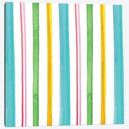 Stripes Canvas Print #SBE44} by Sara Berrenson Canvas Artwork