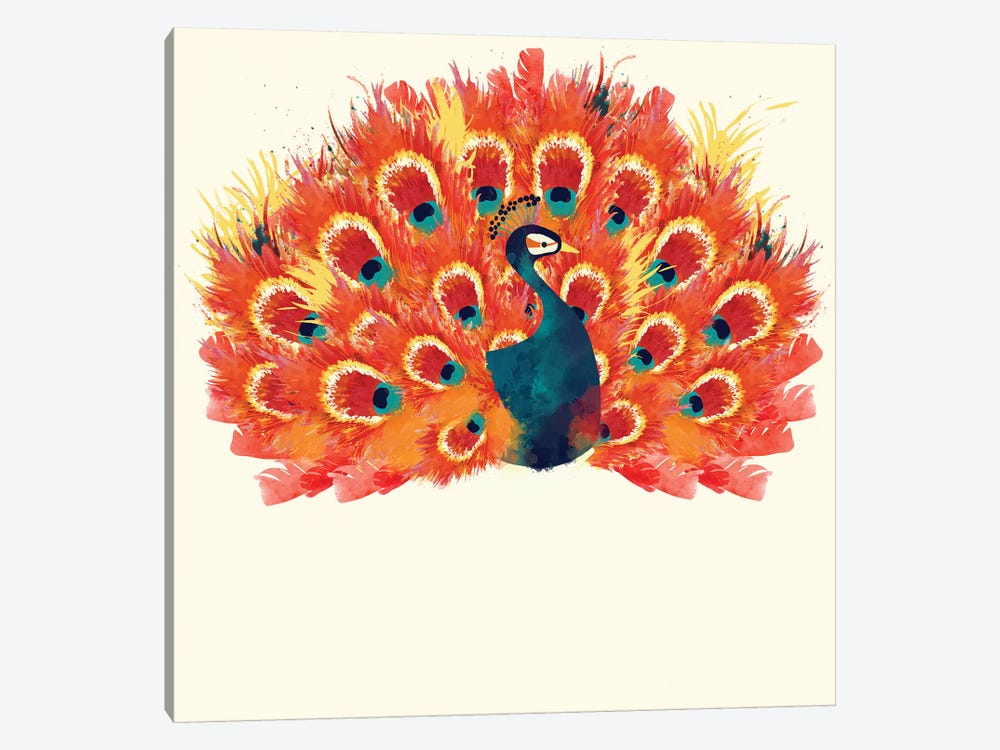 Peacock Large Body by Sara Berrenson 1-piece Canvas Wall Art