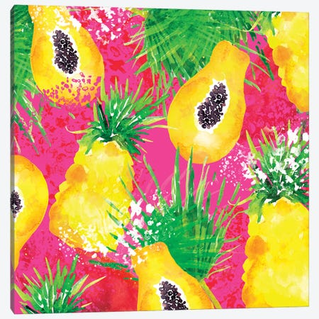 Passionfruit Canvas Print #SBE48} by Sara Berrenson Canvas Print