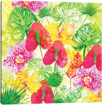 Tropical Flowers Canvas Art Print