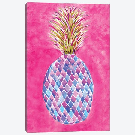 Pineapple Pink Canvas Print #SBE51} by Sara Berrenson Canvas Artwork