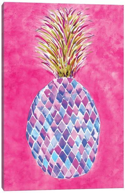 Pineapple Pink Canvas Art Print
