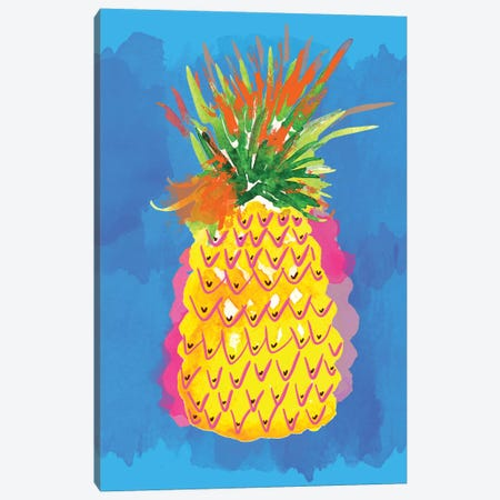 Pineapple II Canvas Print #SBE53} by Sara Berrenson Canvas Wall Art