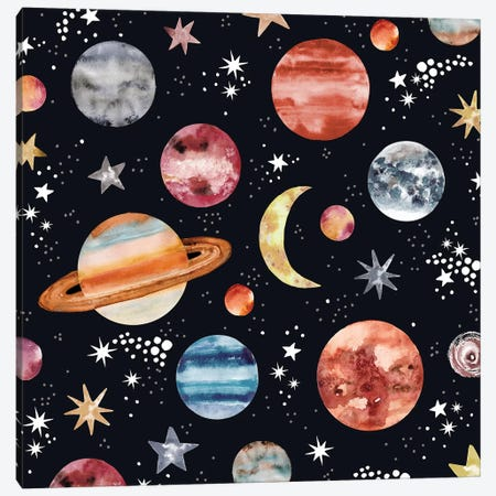 Planets Canvas Print #SBE56} by Sara Berrenson Canvas Print