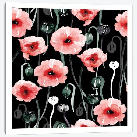 Poppies Canvas Print #SBE57} by Sara Berrenson Canvas Art Print