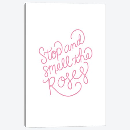 Roses Quote Canvas Print #SBE61} by Sara Berrenson Canvas Art Print