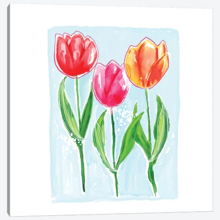 Tulips Canvas Print #SBE72} by Sara Berrenson Canvas Artwork
