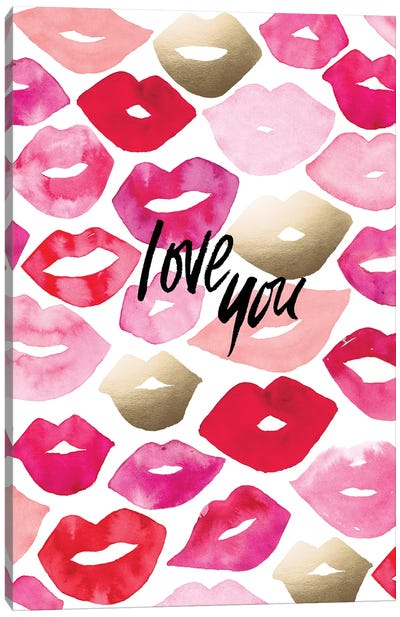 Valentine Lips Canvas Art Print