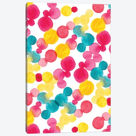 Watercolor Dots Canvas Print #SBE74} by Sara Berrenson Canvas Art Print