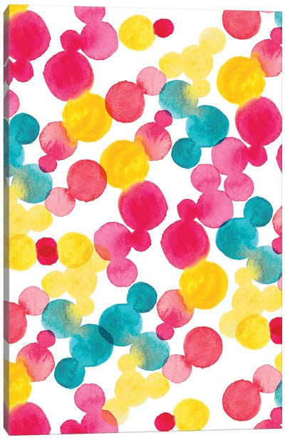 Watercolor Dots Canvas Art Print