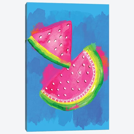 Watermelon Canvas Print #SBE75} by Sara Berrenson Art Print