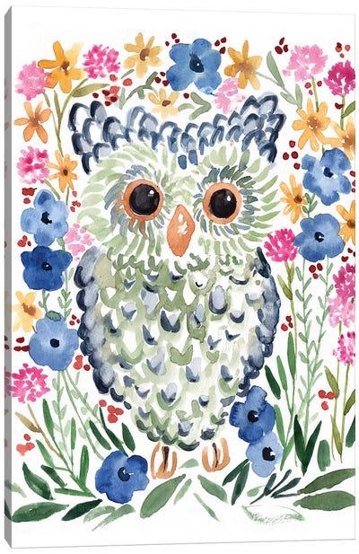 Woodland Owl Canvas Art Print