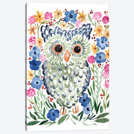Woodland Owl Canvas Print #SBE76} by Sara Berrenson Canvas Art Print