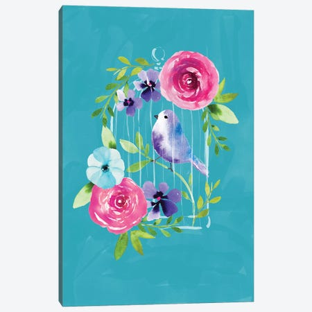 Birdcage Canvas Print #SBE7} by Sara Berrenson Canvas Wall Art