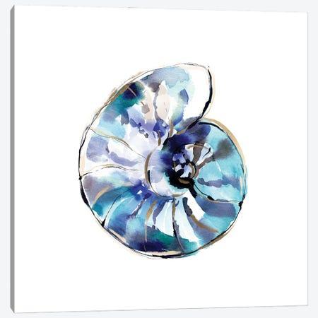 Blue Abstract Shell Canvas Print #SBE80} by Sara Berrenson Art Print