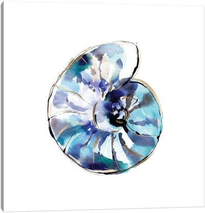 Blue Abstract Shell Canvas Art Print