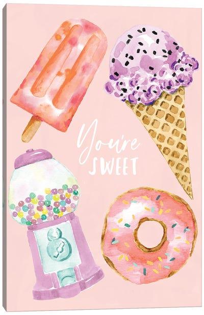 Desserts Peach Canvas Art Print