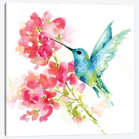 Hummingbird Canvas Print #SBE85} by Sara Berrenson Canvas Art