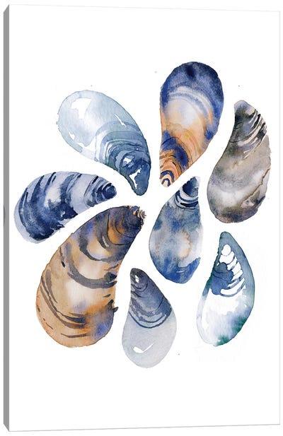 Indigo Mussels Canvas Art Print