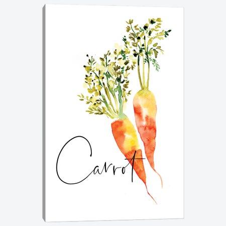 Loose Veggies Carrot Canvas Print #SBE91} by Sara Berrenson Canvas Wall Art