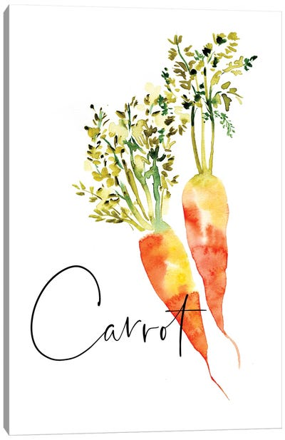 Loose Veggies Carrot Canvas Art Print