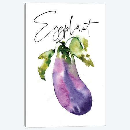 Loose Veggies Eggplant Canvas Print #SBE92} by Sara Berrenson Canvas Artwork