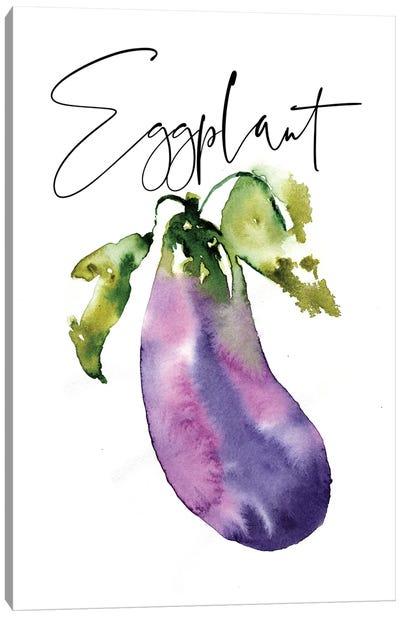 Loose Veggies Eggplant Canvas Art Print