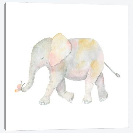 Pastel Elephant Canvas Print #SBE97} by Sara Berrenson Canvas Art Print